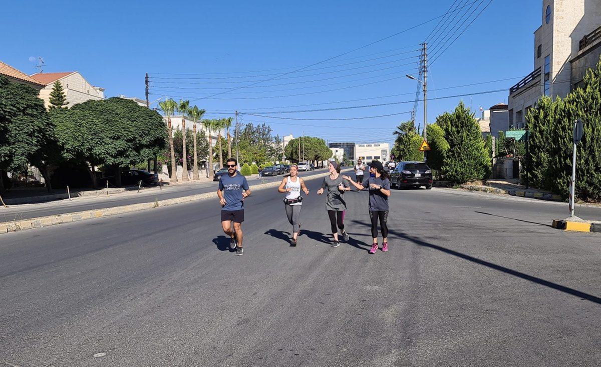 احد ركضات يوم الجمعة مع فريق Running Amman